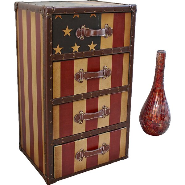 Americana 4 Drawer Chest by International Caravan