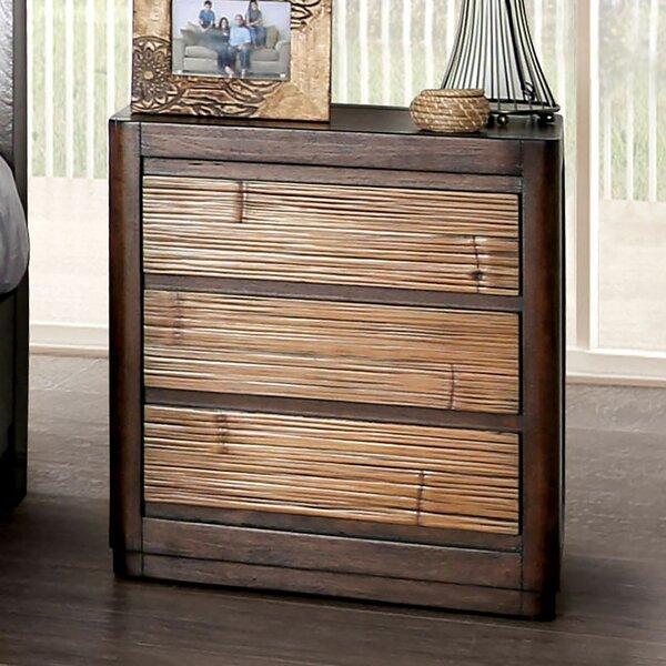 Lavina Wooden 3 Drawer Nightstand by Millwood Pines
