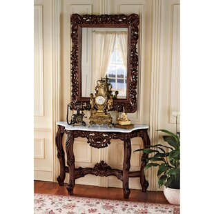 Royal Baroque Console Table and Mirror Set ByDesign Toscano
