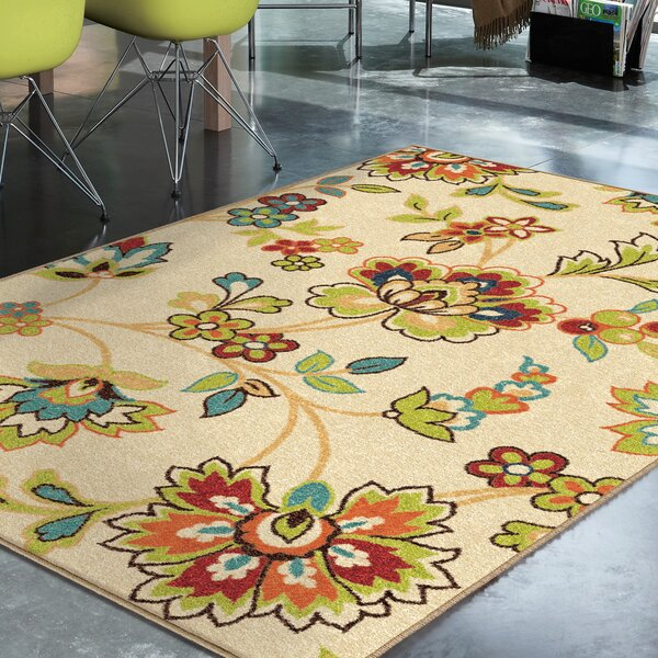 Oscar Beige Indoor/Outdoor Area Rug by Threadbind