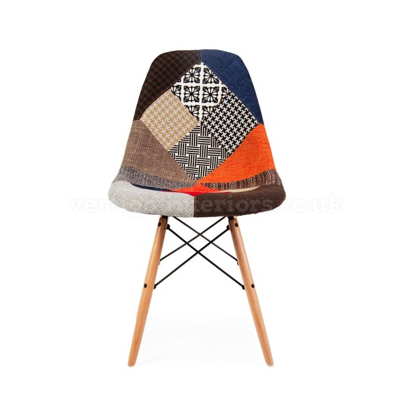 Missouri Patchwork Upholstered Dining Chair by Wrought Studio