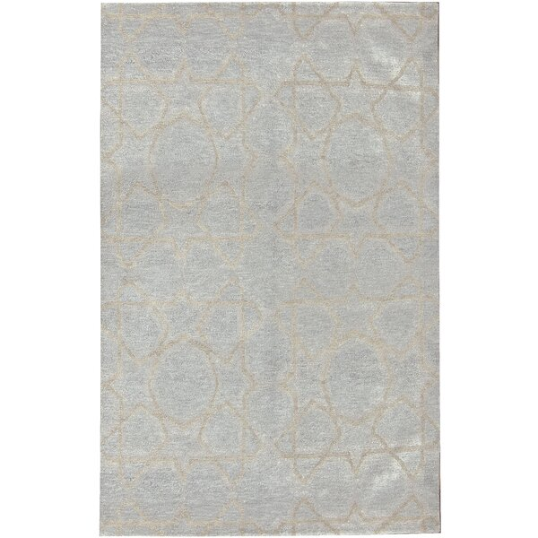 Modern Hand-Knotted Wool Beige Area Rug by Bokara Rug Co., Inc.