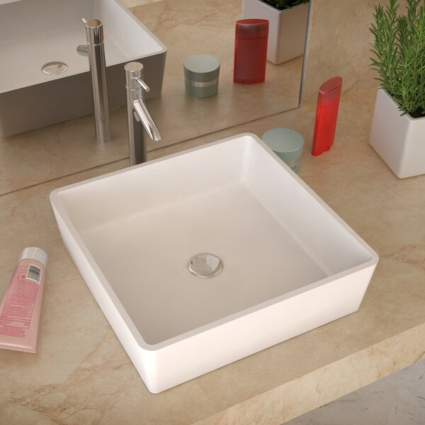 Passage Stone Square Vessel Bathroom Sink by ANZZI