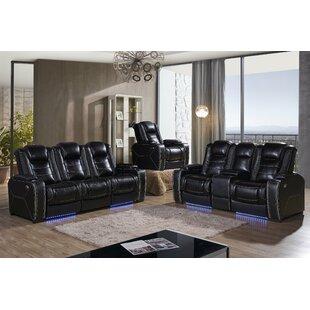 Falun 2 Piece Leather Reclining Living Room Set by Latitude Run®