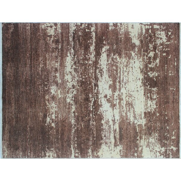 One-of-a-Kind Sandi Hand-Knotted Brown Area Rug by Isabelline
