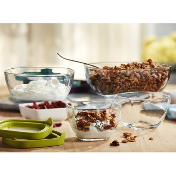 4 Container Food Storage Set with Lid by Libbey