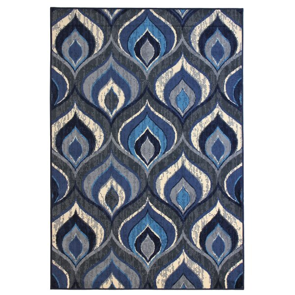 Alonso Blue/Gray Area Rug by Wrought Studio