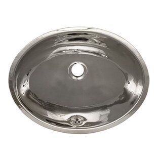 Decorative Metal Oval Undermount Bathroom Sink with Overflow ByWhitehaus Collection
