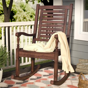 Peachy Jarrard Solid Acacia Wood Patio Rocking Chair Frankydiablos Diy Chair Ideas Frankydiabloscom