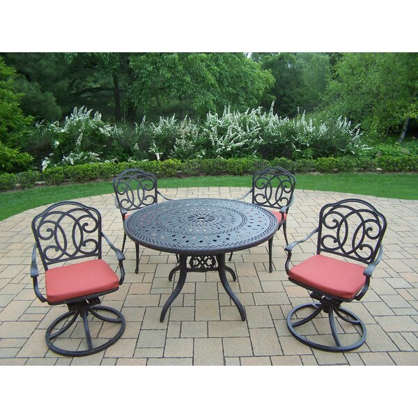 Berkley 5 Piece Dining Set with Cushions by Oakland Living