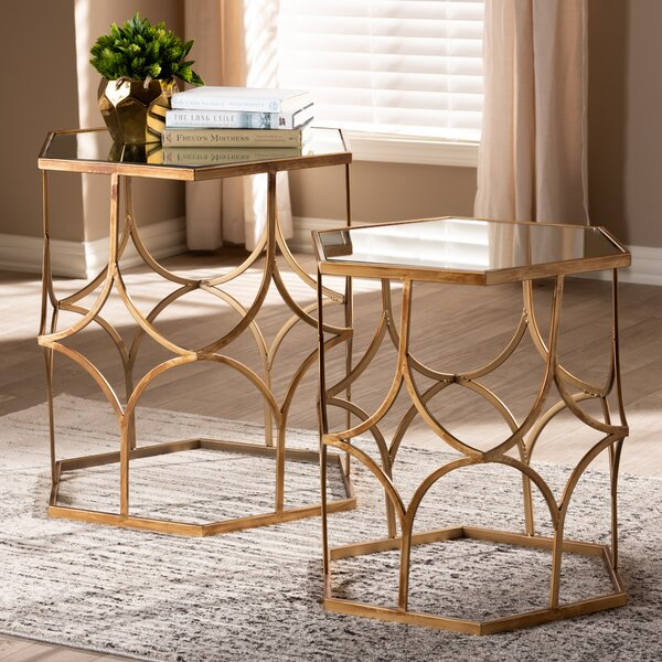 Clemente 2 Piece Nesting Tables by Bungalow Rose