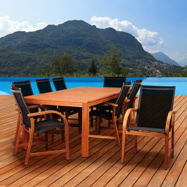 Hillsford 9 Piece Dining Set by Beachcrest Home