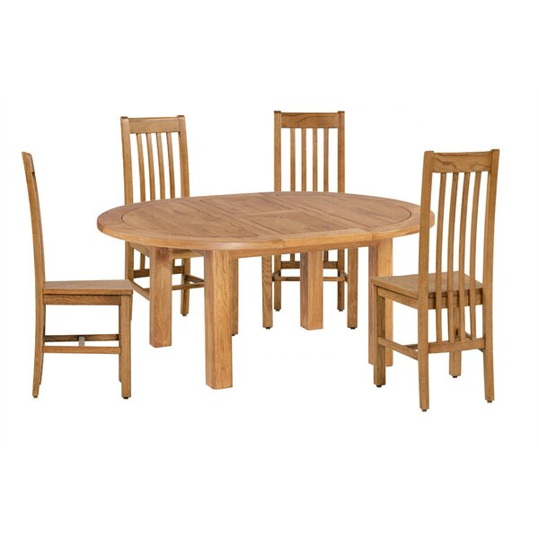 Covarrubias 5 Piece Extendable Dining Set by Loon Peak