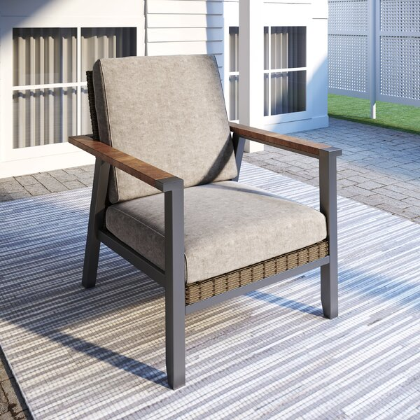 Seyhan Patio Chair with Cushions by Latitude Run