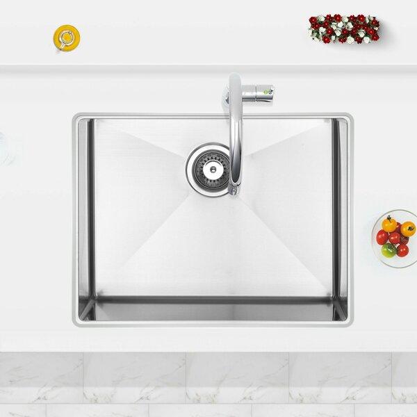 23 L x 10 W Undermount Kitchen Sink with Basket Strainer