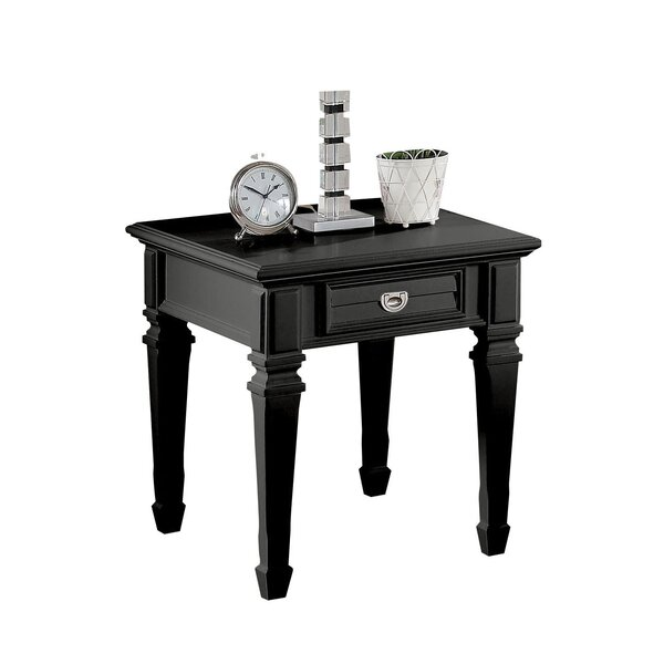 Jurgensen 1-Drawer End Table with Storage by Alcott Hill