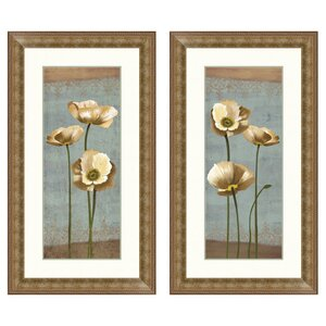 Blooming Poppy Framed 2 Piece Graphic Art Set by PTM