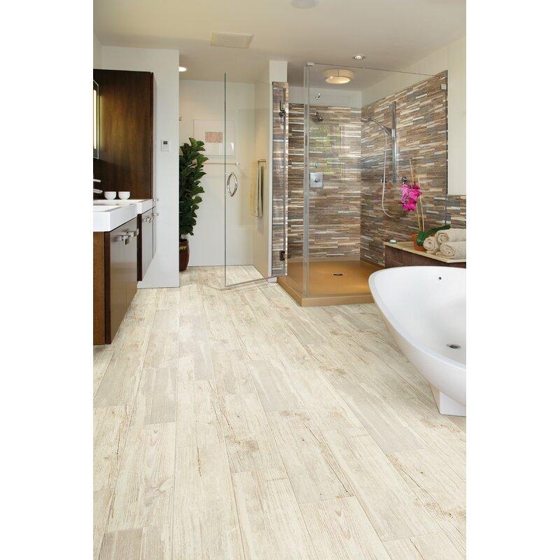 Welles Hardwood Tampico 7 X 24 Ceramic Wood Look Tile In Cream