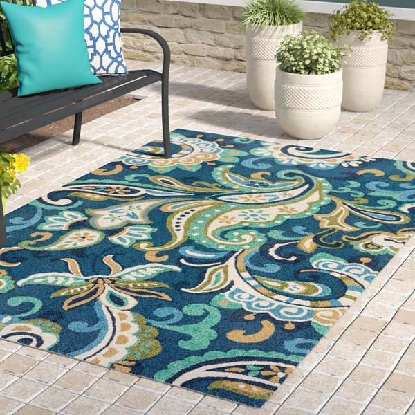 Breann Blue Indoor/Outdoor Area Rug by Winston Porter