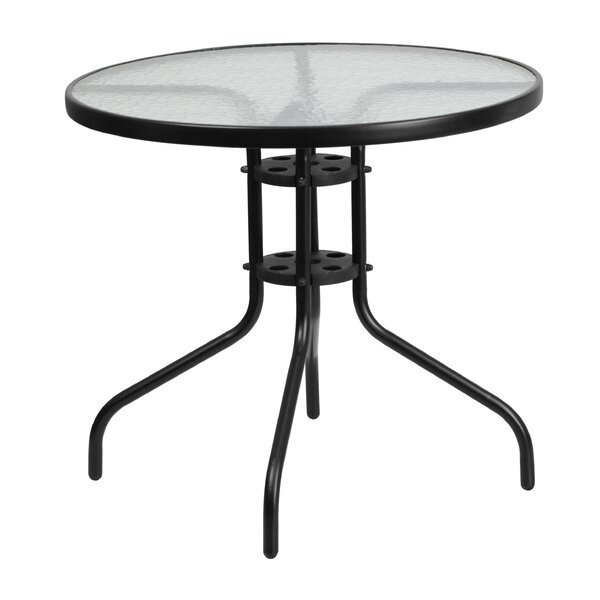 Meadowcrest Glass Dining Table By Charlton Home