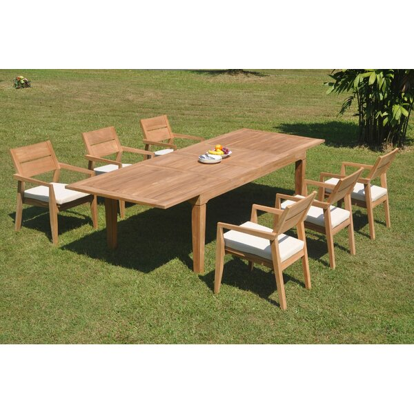 Heer 7 Piece Teak Dining Set by Rosecliff Heights