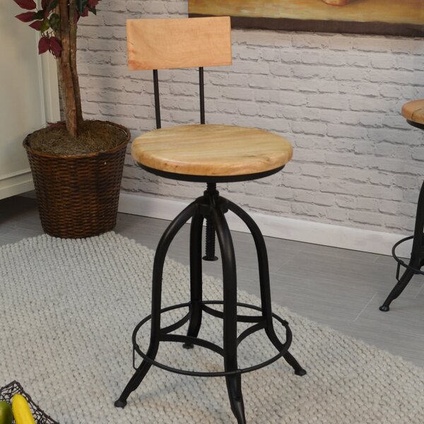 Lindsay Adjustable Height Swivel Bar Stool by Laurel Foundry Modern Farmhouse