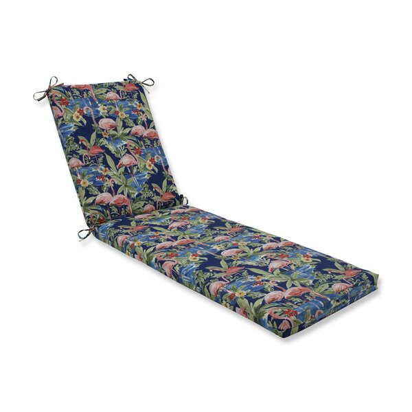 Flamingoing Lagoon Outdoor Chaise Lounge Cushion by Bay Isle Home
