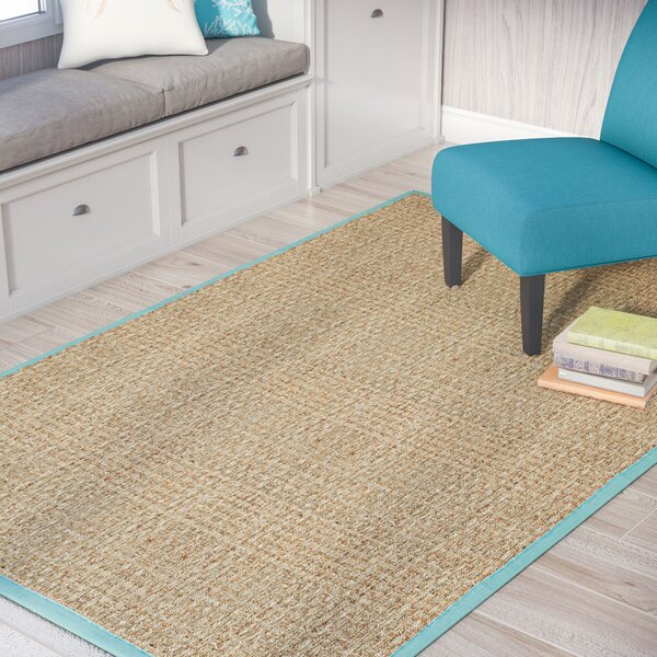 Richmond Natural/Teal Area Rug by Beachcrest Home