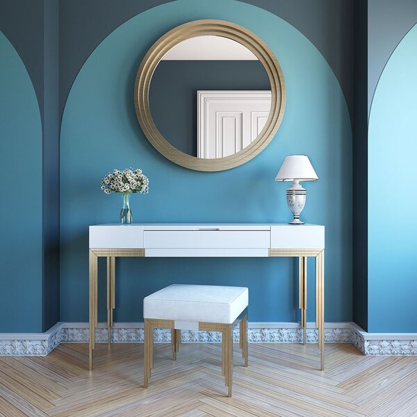 Ludwick Vanity Set with Stool and Mirror