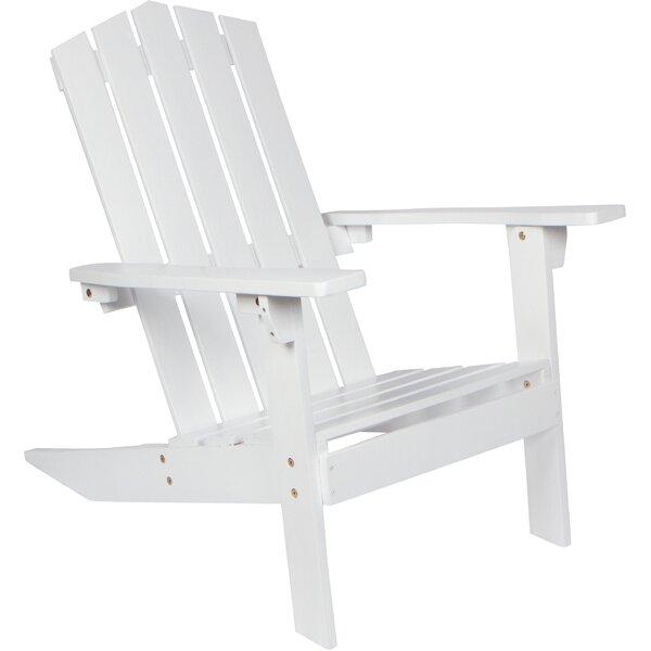 Weddington Solid Wood Adirondack Chair by Breakwater Bay