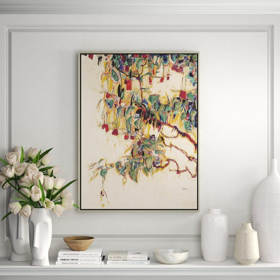'Sonnenbaum' - Painting Print on Canvas