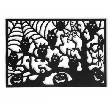 Halloween Owl Tree Rectangle Placemat (Set of 4) by The Holiday Aisle