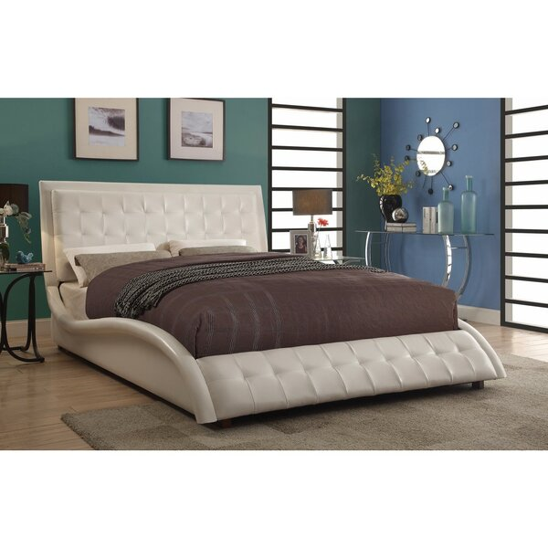 Crosbie Contemporary Styled Soothing Queen Upholstered Sleigh Bed by Orren Ellis