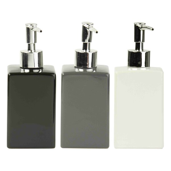 Kayson Ceramic Square Print Soap Dispenser by Wade Logan