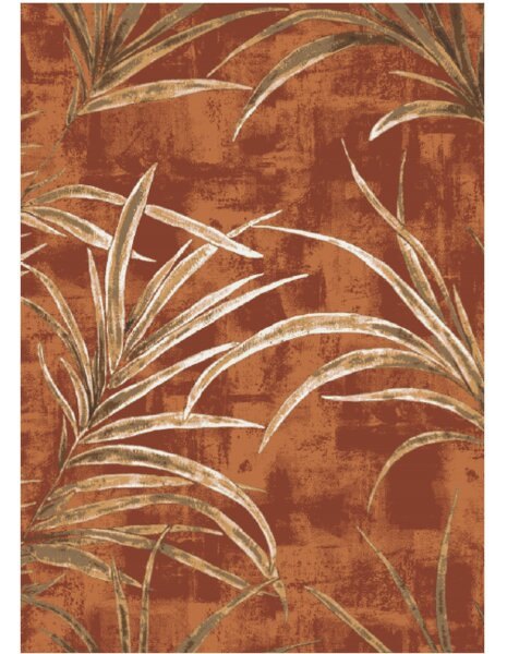 Pastiche Rain Forest Fall Orange Area Rug by Milliken