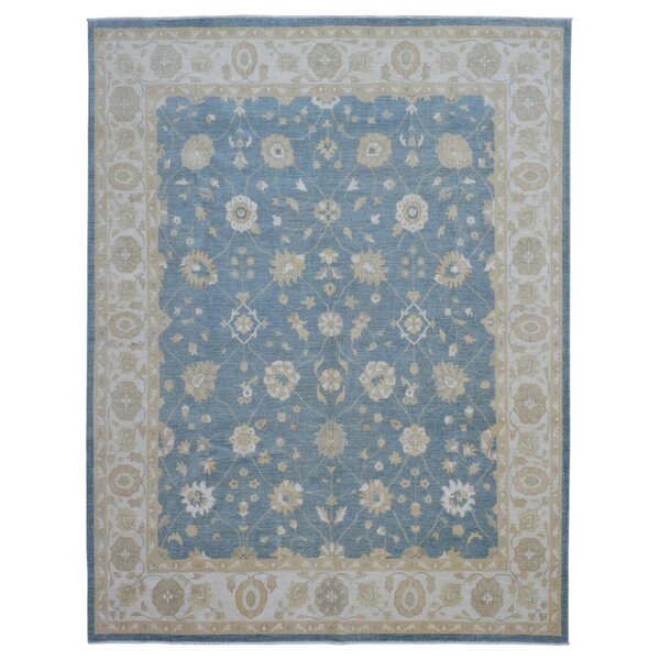 One-of-a-Kind Ardith Traditional Hand-Woven Wool Blue Area Rug by Darby Home Co