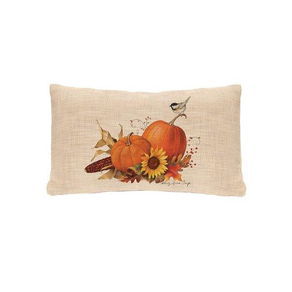 Waddell Pumpkin Lumbar Pillow Cover by August Grove