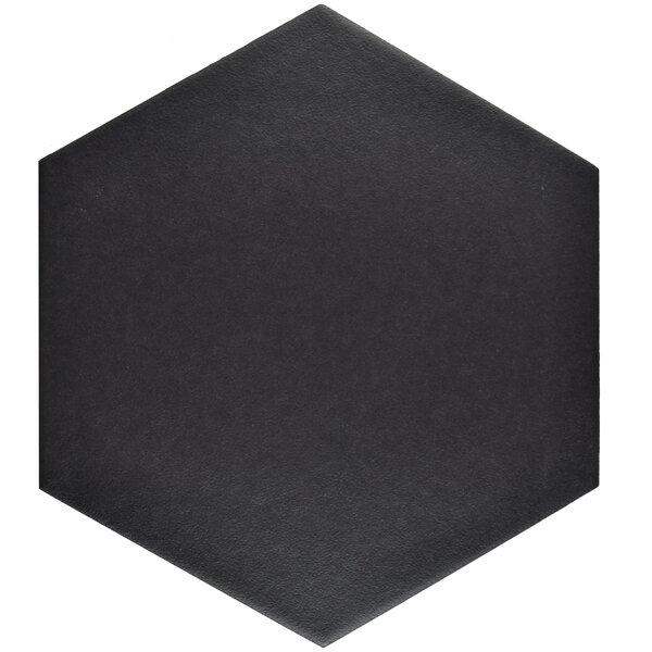 Tessile 8.63 x 9.88 Porcelain Mosaic Tile in Black by EliteTile
