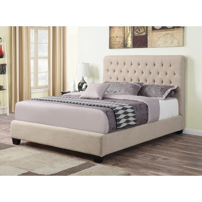 Keeble Upholstered Standard Bed Three Posts Size: Queen