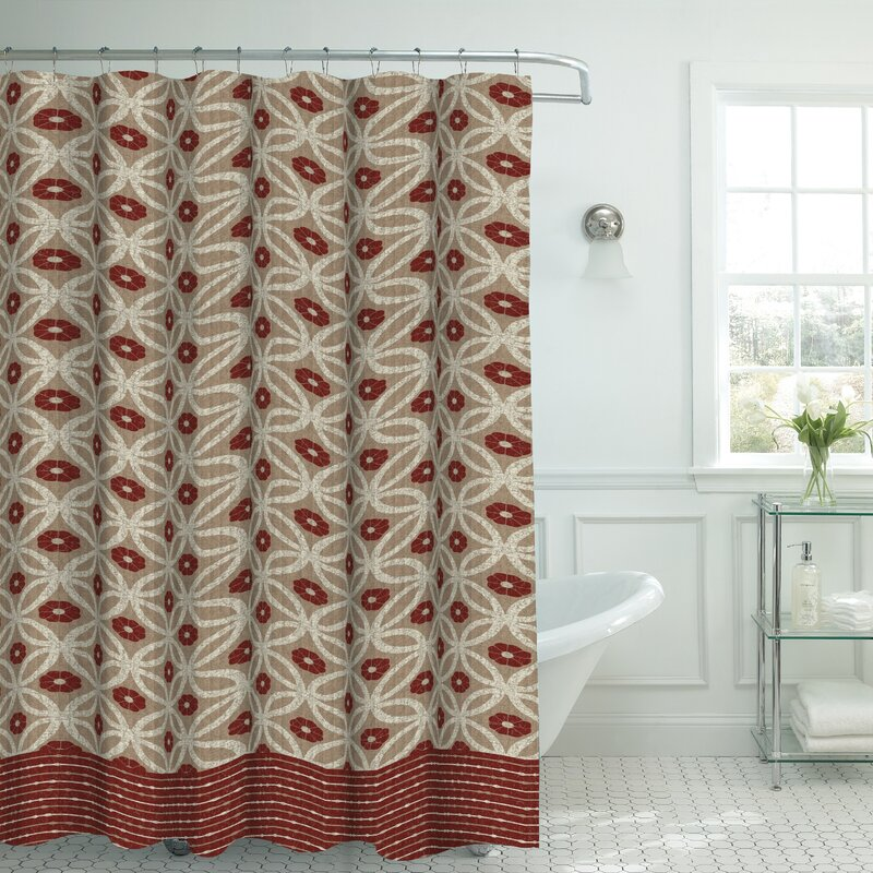 Bath Studio Oxford Fabric Weave Textured Shower Curtain Set ...