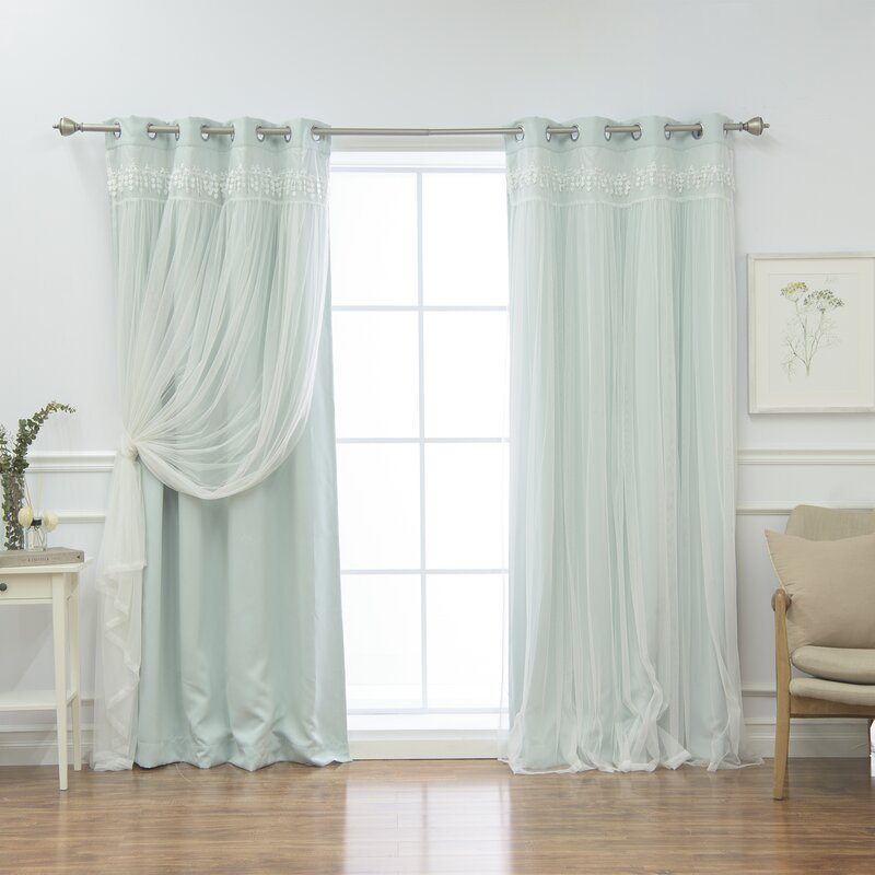 Loar Solid Blackout Thermal Grommet Curtain Panels