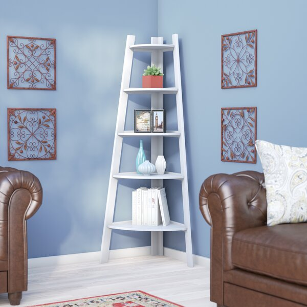 Catlin Corner Unit Bookcase by Charlton Home