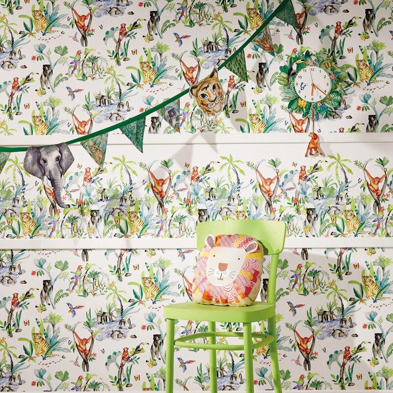 Arthouse Jungle Mania Decorative Frieze 21 X 3 95 Wallpaper