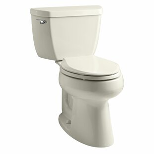 Highline Classic Comfort Height Two-Piece Elongated 1.28 GPF Toilet with Class Five Flush Technology and Left-Hand Trip Lever ByKohler