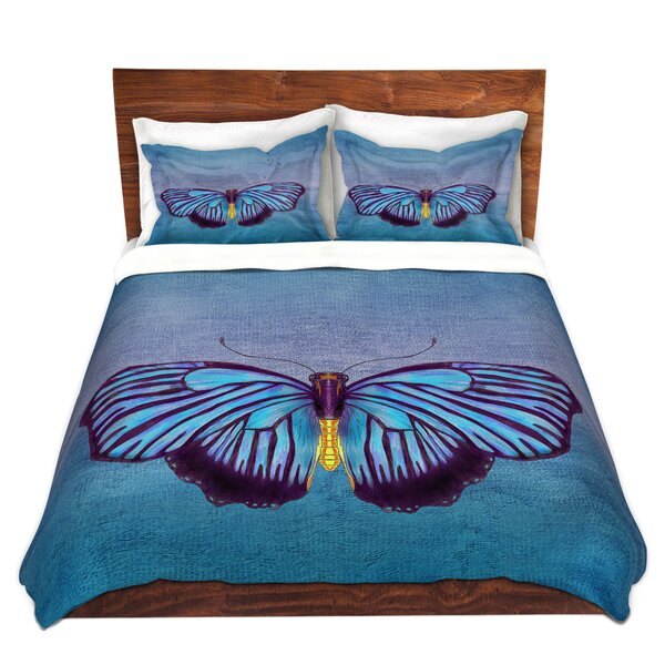 Matsuda Catherine Holcombe Butterfly Blues Microfiber Duvet Covers