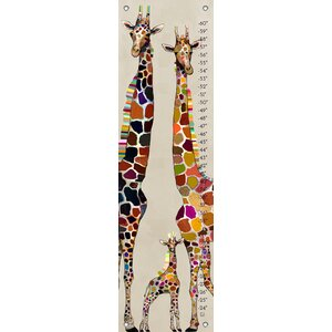 George Giraffe Family Canvas Growth Chart by Viv + Rae