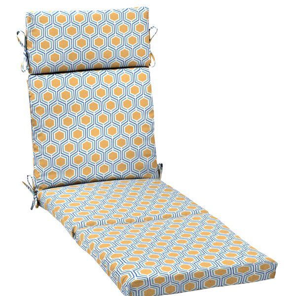 Honeycomb Outdoor Chaise Lounge Cushion By Wrought Studio