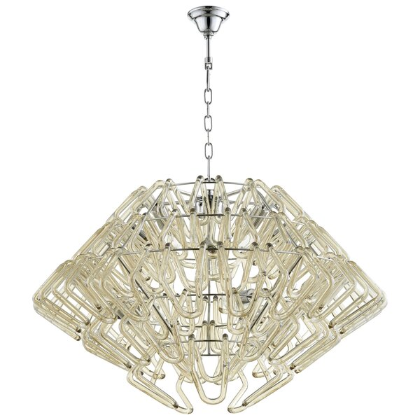 Roswell 6 - Light Unique / Statement Geometric Chandelier By Cyan Design