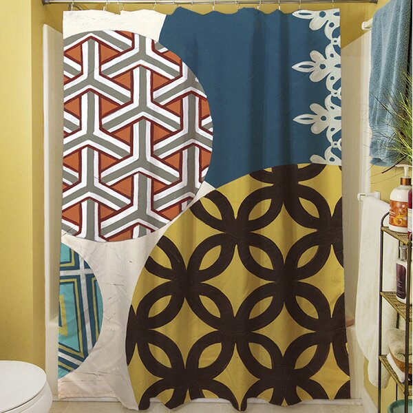 Paper Lanterns I Shower Curtain by Manual Woodworkers & Weavers