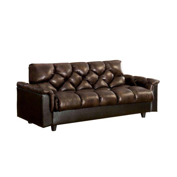 Footman Leatherette Convertible Sofa by Brayden Studio
